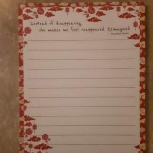 FairyLoot Girls of Paper and Fire Quote Notepad